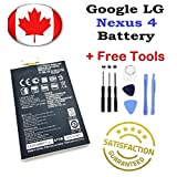 Gooddealgoods For Google LG Nexus 4 Internal Replacement Lithium High Capacity 2100 Mah Battery New Comes With Repair Tools Kit
