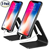 ipad 2 air case girls cool - Cell Phone Stand, 2 Pack iPhone Stand Desktop Cradle Holder Dock for Tablet Nintendo Switch Android Smartphone iPhone 8 X 7 6 6s Plus SE 5 5s 5c iPad mini Charging Universal Accessories Desk - Black
