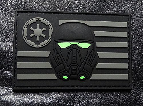 Stormtrooper USA Flag Star Wars Rogue Morale 3-D PVC Rubber Hook Patch (ACU-MTS1)