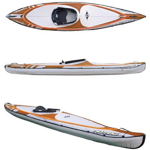 BIC Sport NOMAD HP1 Inflatable Kayak, Orange/Grey, 14-Feet 5 x 31.5-Inch x 440-Pound ()