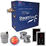 Steam Spa RYT1200CH Royal 12 KW Quick Start Acu-Steam Bath Generator Package, Chrome