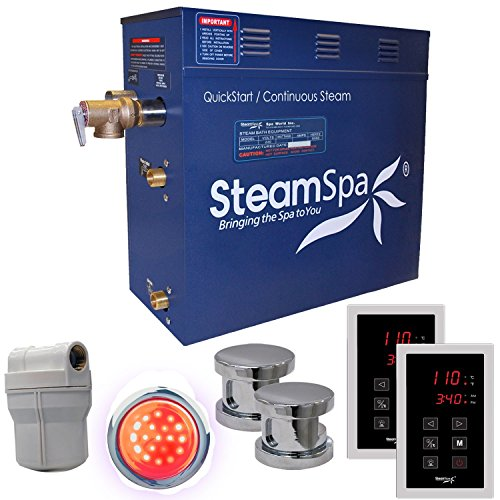 Steam Spa RYT1200CH Royal 12 KW Quick Start Acu-Steam Bath Generator Package, Chrome by Steam Spa