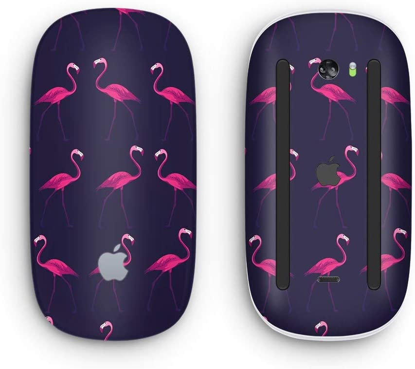 Tropical Neon Summer Flamingo Wireless, Rechargable Design Skinz Premium Vinyl Decal for The Apple Magic Mouse 2 with Multi-Touch Surface