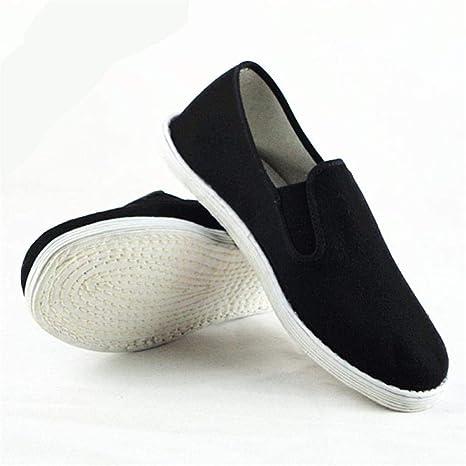 WFQGZ Zapatos de algodón Zapatillas de Punta Cerrada Kung Fu para Hombre Zapatos de algodón Negros Zapatos de Kung ...