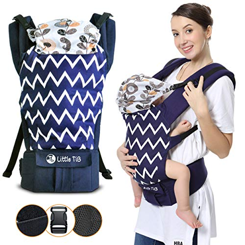 Baby Carrier for Men & Women – Infant Carrier – Newborn to Toddler- Little Tib Baby Carrier All in 1 Ergonomic Hiking…