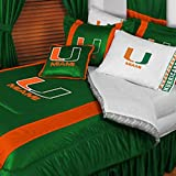 NCAA Miami Hurricanes - 2 pc Comforter Set - Twin College Bedding