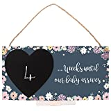 Weeks Until Our Baby Arrives Countdown Chalkboard Gift