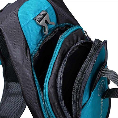 Malloom Hombres Bolso Bandolera Bolsa de hombro (negro) azul