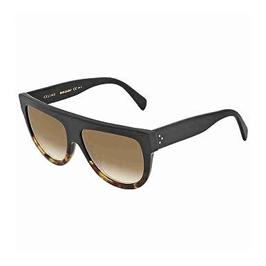 cc4e16ea1ce0 Image Unavailable. Image not available for. Color  Celine Square Sunglasses  CL41026S FU55I Black Tortoise 41026