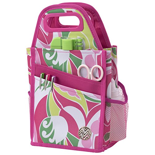 ADVANTUS CORPORATION Storage Studios Macbeth Spinning Craft Tote, 7.25 x 7 x 13 Inches, Pink, White, Yellow, and Green (CH93542) by ADVANTUS CORPORATION
