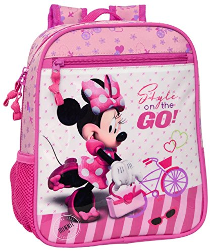 Jungs Holdall Reisetasche Sporttasche Rosa - Backpack Minnie Mouse Style 28x23x10cm