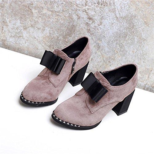 Cremallera Altos EU36 de CN36 Plataforma Profundos UK4 Tamaño con UK4 Lateral Tacones XUERUI Zapatos Impermeable EU36 Nuevos CN36 Mujer FqwcSazvf