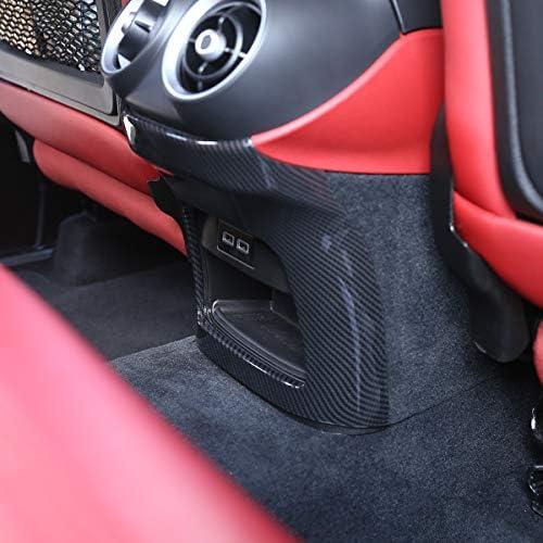 LLKUANG Carbon Fiber Style Air Conditioning Adjust Frame for Alfa Romeo Stelvio 2016-2019