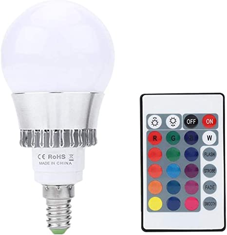 RGB LED Bulb Colour Changing Candle Remote Control Smart Home Party Light Lamp