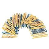 KKmoon 1000pcs 1/2W 50 Values 0.1 ohm to 3.6M ohm Metal Film Resistors Assortment Kit Electronic Components