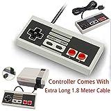 Game Pad Controller Joystick Per Nintendo Mini Classic NES JOYPAD Con CAVO EXTRA LUNGO LUNGO 1,8 M
