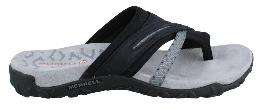 Merrell Women's Terran Post II Sandal, Black, 9 M US