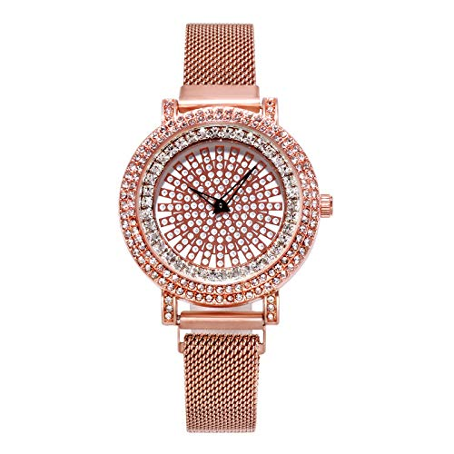 1bca996b772141 Amazon.com: Women Watches for Sale,Cool Luxury Fashion Full Fake Diamond  Dial To Run Ladies Quartz Mesh Belt Watch(Rose Gold): Software