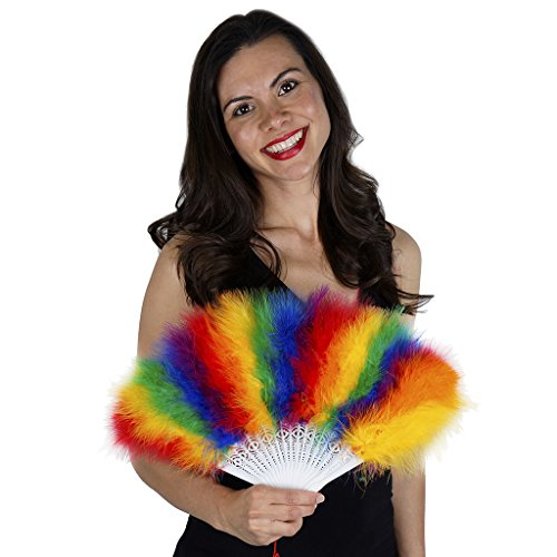 Marabou Feather Fan Sectional - Rainbow Mix