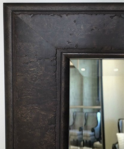 West Frames Marcello Rustic Rectangular Framed Wall Mounted Mirror (32