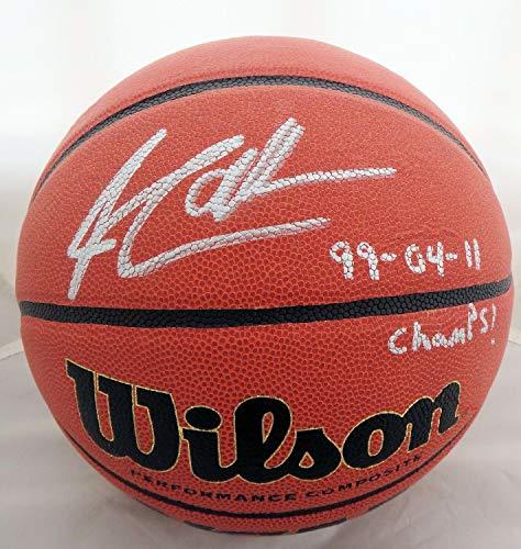 Jim Calhoun Autographed Signed Memorabilia Ncaa Wilson 3X Champ Basketball - JSA Authentic