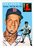 Autograph Warehouse 20872 Ted Lepcio Autographed 1954 Topps Archive Baseball Card Boston Red Sox