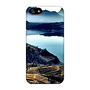 DUo28235KbQy Cases Covers Iphone 5/5s Protective Cases Vineyards Down To The River Hdr