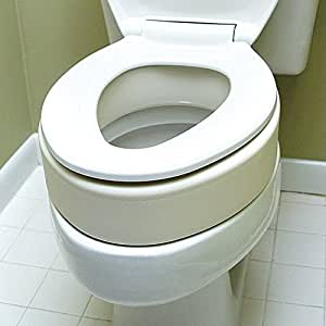 Amazon Com Elongated Toilet Seat Riser Easy