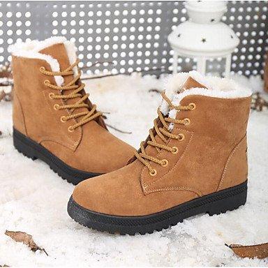 Deutsches Elektronen-Synchrotron Damen Stiefel Snow Boots Fall Winter Wildleder Walking Schuhe Casual Outdoor Split Gemeinsame flach Absatz Schwarz Grau Blau Khaki Burgunderrot flach khaki
