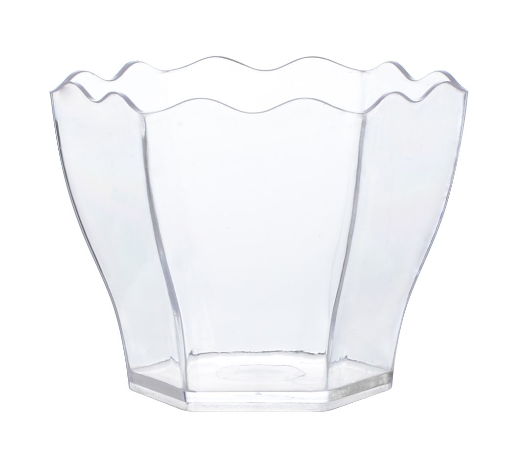 Tiny Temptations Fineline 6304-CL Tiny Hexagon Cube, 2.1'' Diameter/1.9'' Height, Clear, 10/20/200 Case