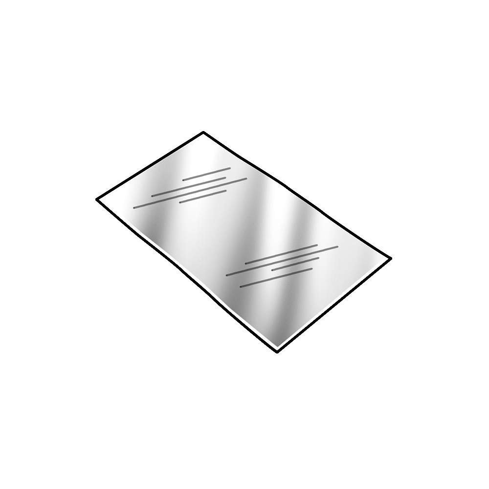 PVC (Polyvinyl Chloride) Shim Stock, Flat Sheet,  Clear, 0.060'' Thickness, 10'' Width, 20'' Length (Pack of 3) by Small Parts