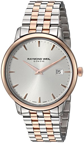 Raymond Weil Men's 'Toccata' Swiss Quartz Stainless Steel Dress Watch, Color:Two Tone (Model: 5488-SP5-C6501)