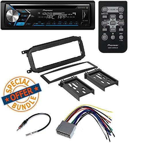 PIONEER DEH-S4000BT CD MP3 USB BLUETOOTH 13 BAND EQ CAR STEREO SPOTIFY RADIO Aftermarket Single-Din Car Stereo Mount for Dodge Radio Install Dash Kit CR1277B (Pioneer Card Stereo)