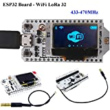 HiLetgo ESP32 LoRa SX1278 0.96 inch OLED Display Development Board WIFI Bluetooth Dual Core 240MHz CP2102 and 433/470MHz Antenna for Arduino Smart WIFI LoRa 32