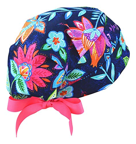 Womens Surgical Scrub Hat Adjustable Small to Medium (Caribbean)