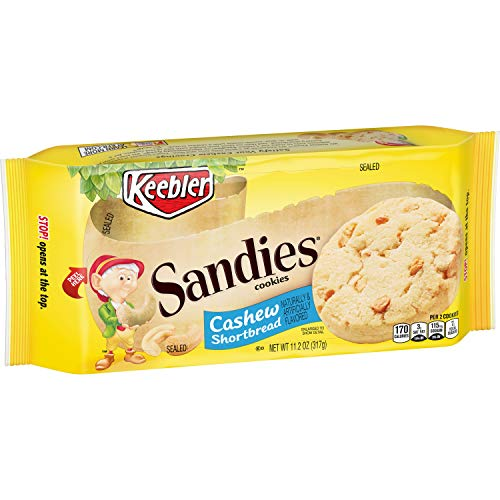 Keebler Sandies Cookies, Cashew Shortbread, 11.2 oz Tray