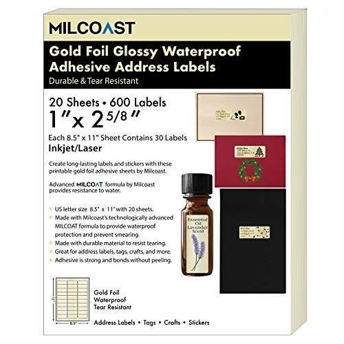 Milcoast Gold Foil Glossy Waterproof Tear Resistant 1
