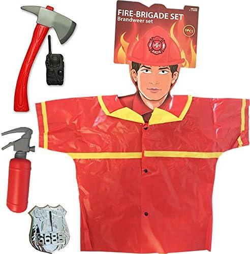 Générique Disfraz bombero niño – Set de bombero 5 piezas con hacha ...