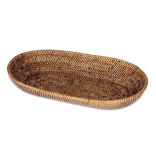 Saffron Trading Company Oval Bread Basket - Antique Brown by Saffron Trading Company