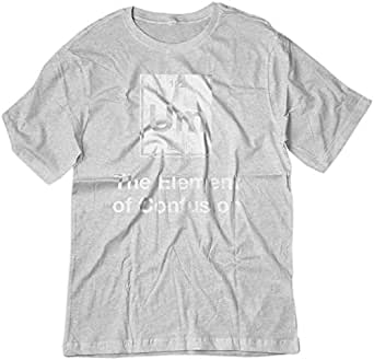 BSW Men's UM - The Element of Confusion Periodic Table Science Shirt XS Ash Grey