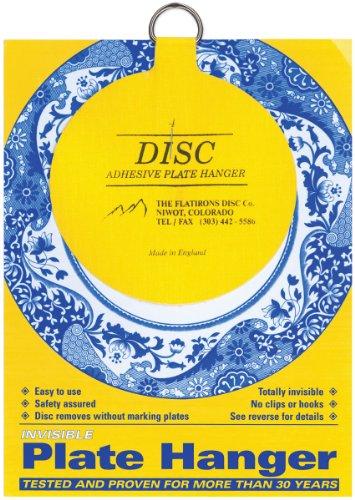 Flatiron Disc Invisible Plate Hanger, 4-Inch Multi-Colored