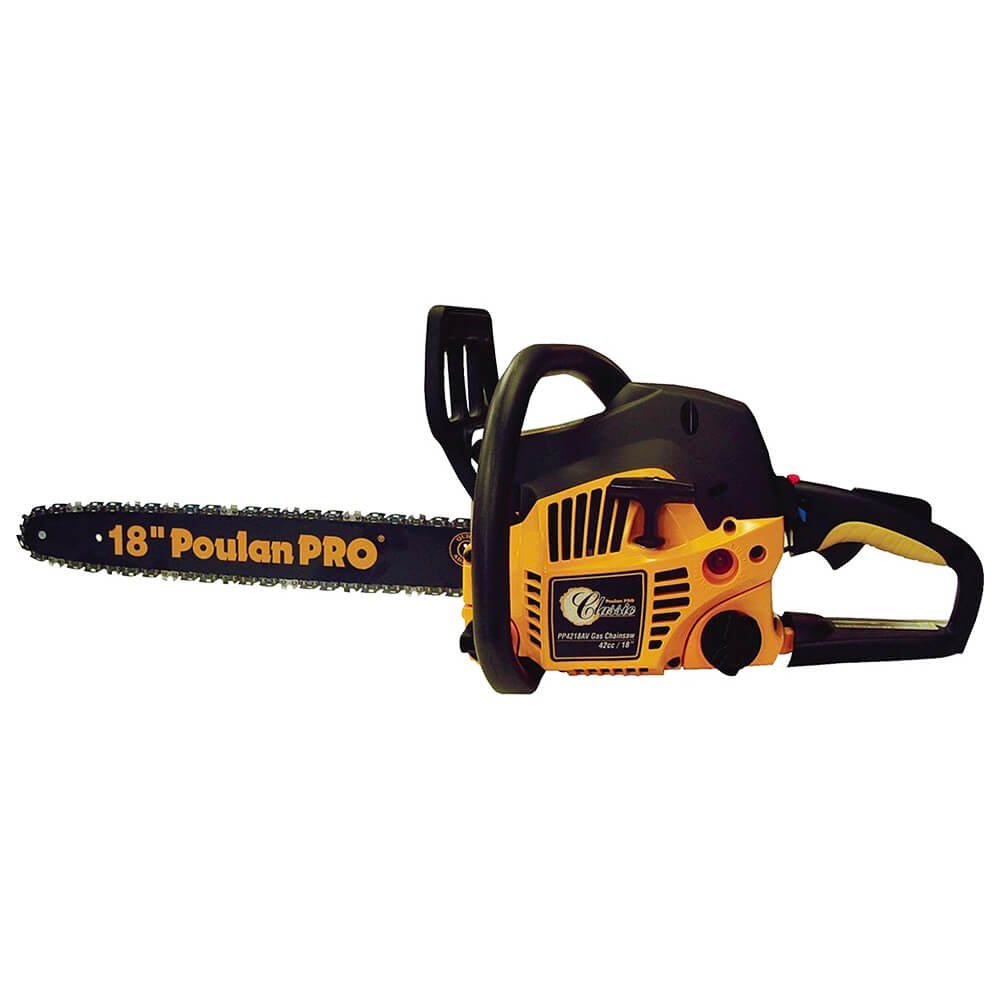 Poulan Pro 967185102 PP4218A 42cc Assembled Chainsaw with Case, 18-Inch Husqvarna/Poulan/Weed Eater