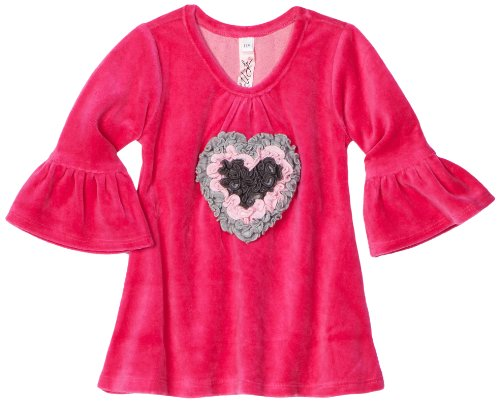 Love U Lots Baby Girls' Ruffle Heart Bell Sleeve Tunic