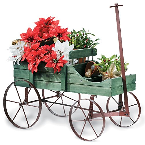 Outdoor Decor (Amish Wagon Decorative Garden Planter,)