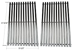 Bbq Funland Gs9812 New Stainless Steel Cooking Grid Replacement For Uniflame Grill Master Brinkmann And Nexgrill Gas Grills Set Of 2