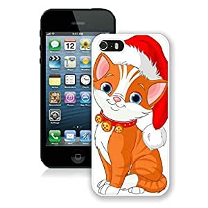 Diy Iphone 5S Protective Cover Case Christmas Cat iPhone 5 5S TPU Case 8 White by icecream design
