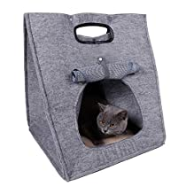 アオキ 猫ベッド 通気性抜群 猫ハウス お昼寝 ベッド 四季通用 おしゃ...