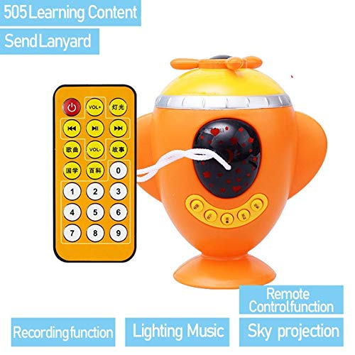 505 Lamp Projector (DishyKooker Baby Playmobil Music Story LED Light Projection Multifunction Projector Lamp Aircraft Appease Educational Learning Toys Aircraft-505)
