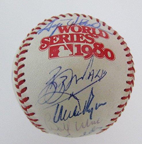 1980 Philadelphia Phillies Team Signed World Series Baseball 27 Sigs 128155 - Autographed - Series Baseball Autographed Team World