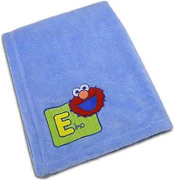 Amazon.com   Elmo Plush Baby Blanket ~ Blue   Nursery Blankets   Baby 1d7c45470